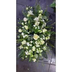 Gerbe plate champêtre blanc