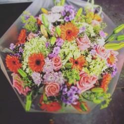 bouquet rond colore