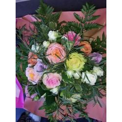 Bouquet rond mixe de rose...