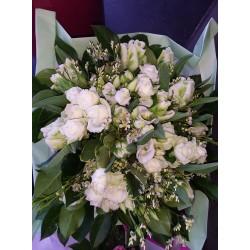 Bouquet rond blanc champêtre