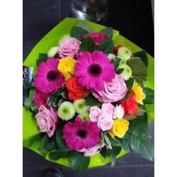 Bouquet rond colorer