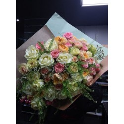 Bouquet varier mixe de rose...