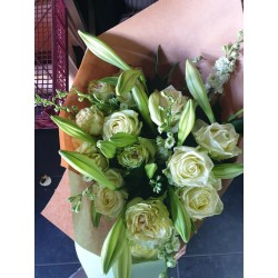 Bouquet blanc chic