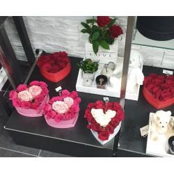 Gerbe blanc et rose