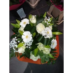 Bouquet rond blanc chic